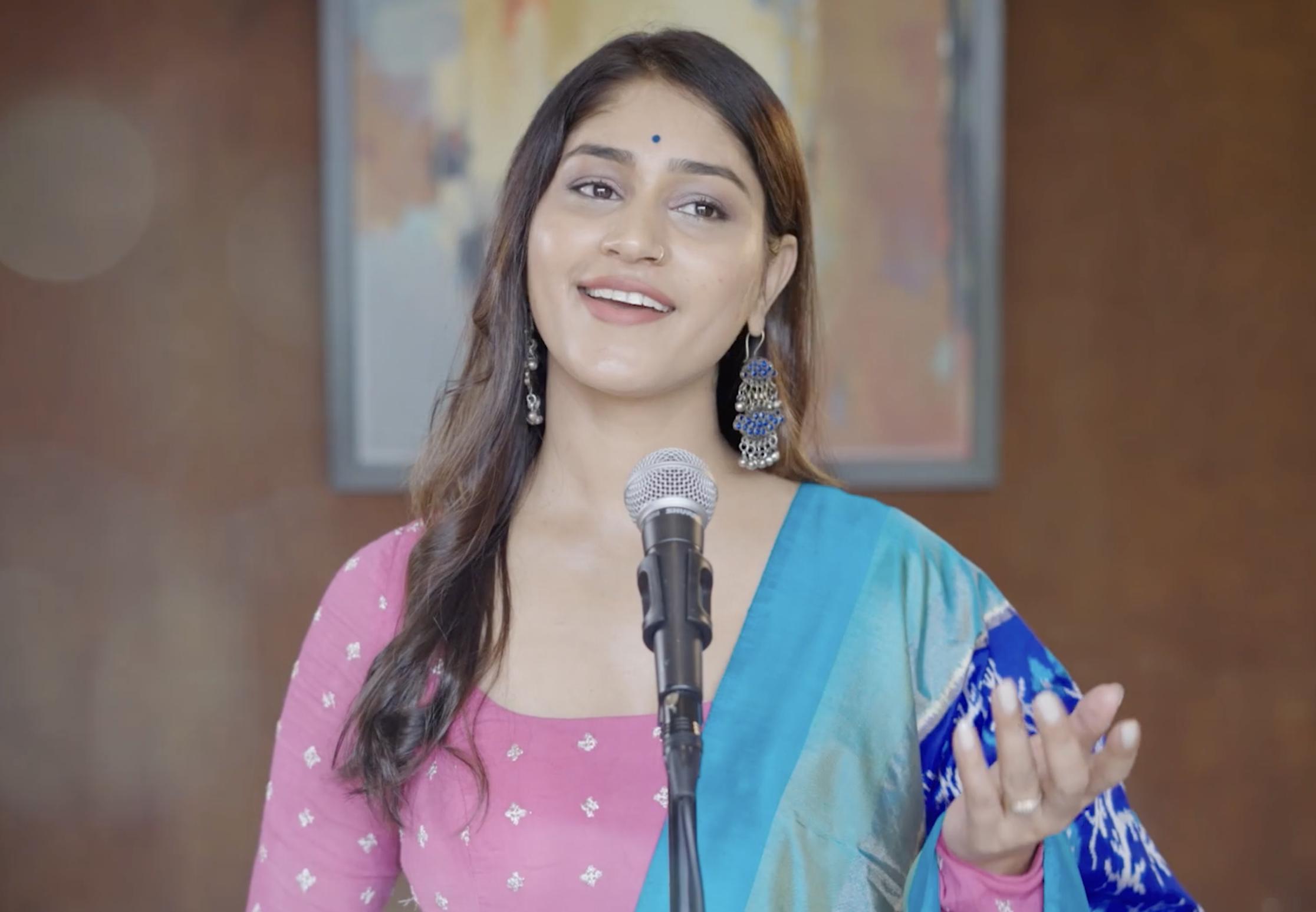 Pratibha in the upcoming video for Intezaar (The Wait)